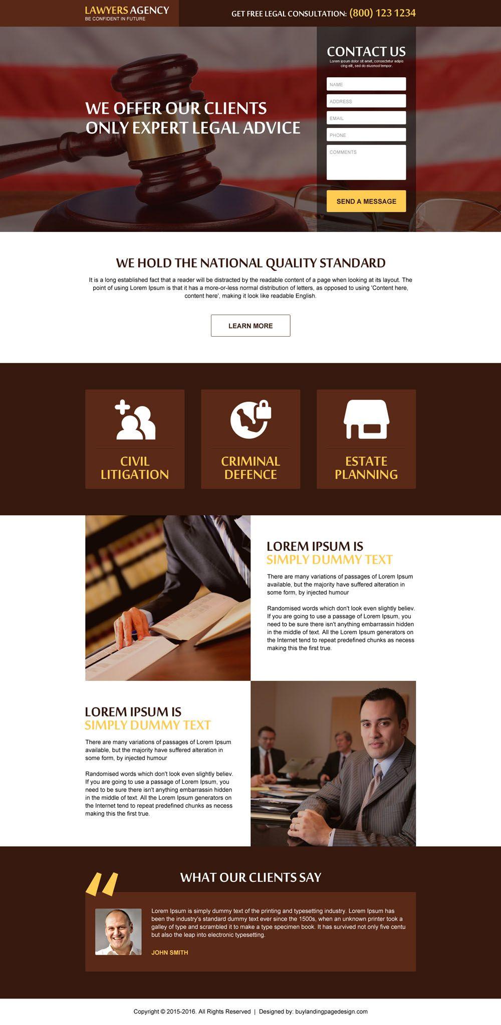 Get Free Legal Consultation Lead Gen Responsive Landing Page