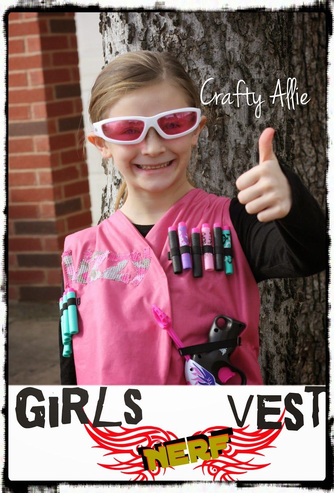 Crafty Allie: Girls Nerf Vest