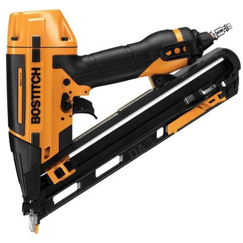 Bostitch Btfp72155 Smart Point 15 Gauge Da Style Angle Finish Nailer Kit Finish Nailer Home Depot Construction Tools