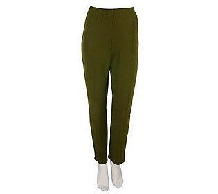 Susan Graver Essentials Lustra Knit Petite Skinny Pants