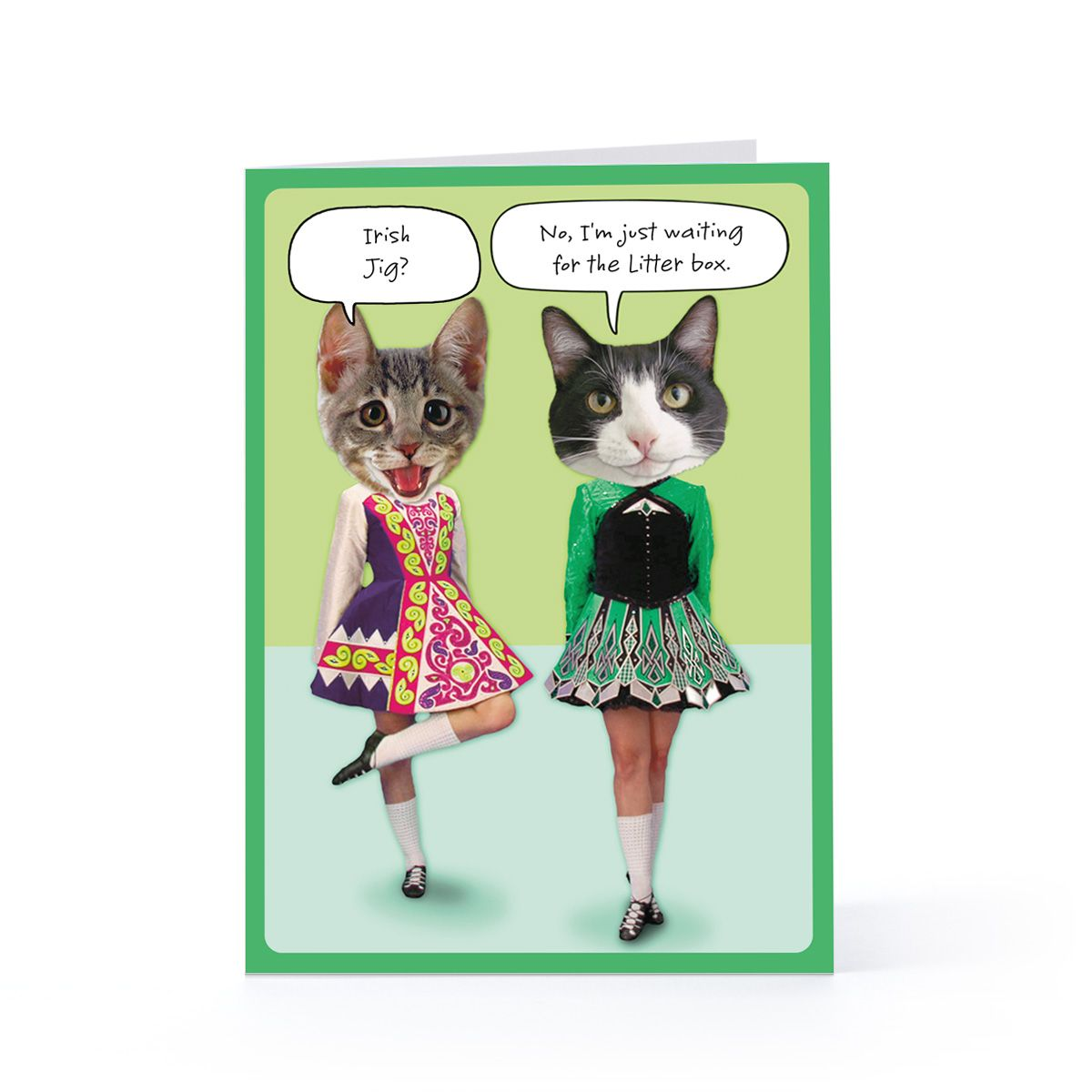 dancing irish cats st patricks day 317 greeting card