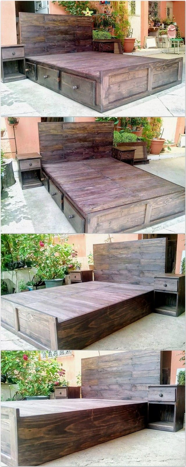 30+Amazing DIY Pallet Wooden Projects | Camas de plataforma, Palets ...