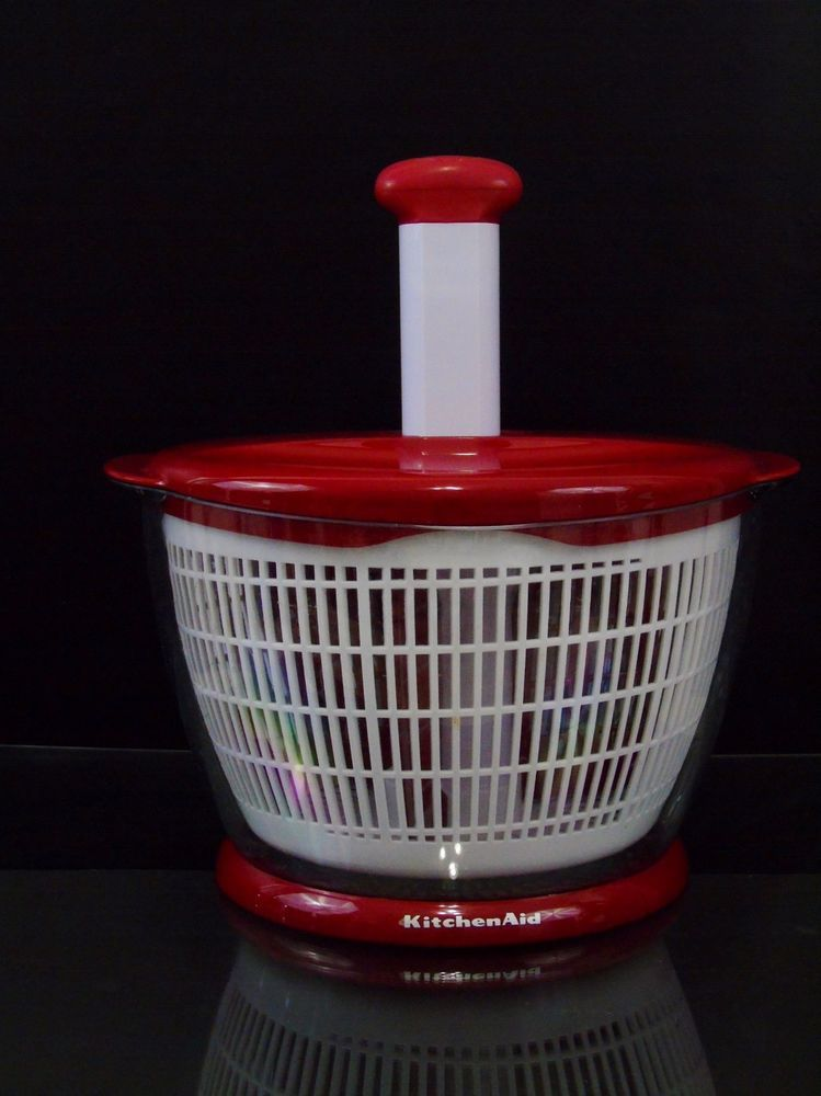 KitchenAid Salad Herb Fruit Spinner Professional Large Red ...