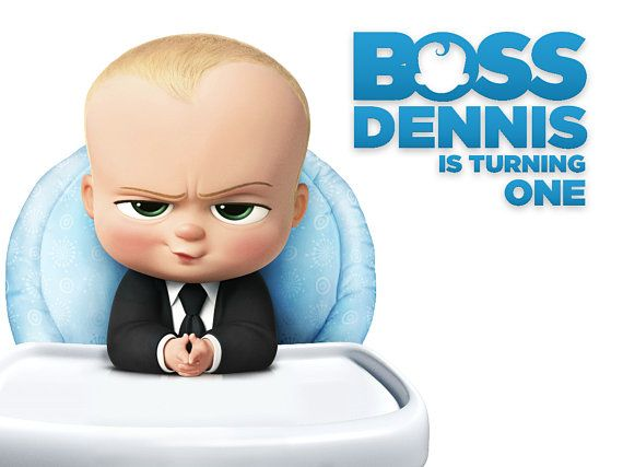Boss Baby Birthday Backdrop White Background Boss Baby