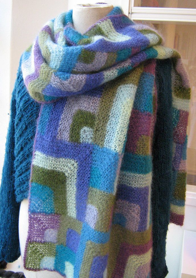 Free Knitting Pattern for Modern Quilt Wrap | Knitting Projects ...