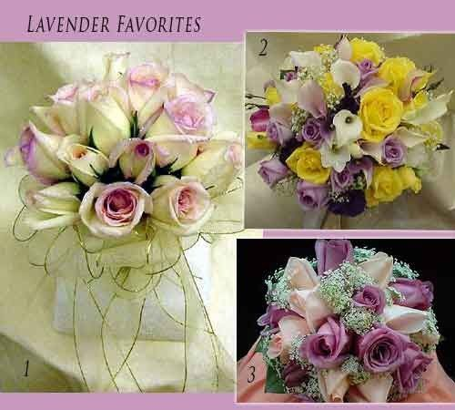 Love Lavender? Add lavender Roses or Purple Flowers to your bridal bouquet for a soft but popping look.