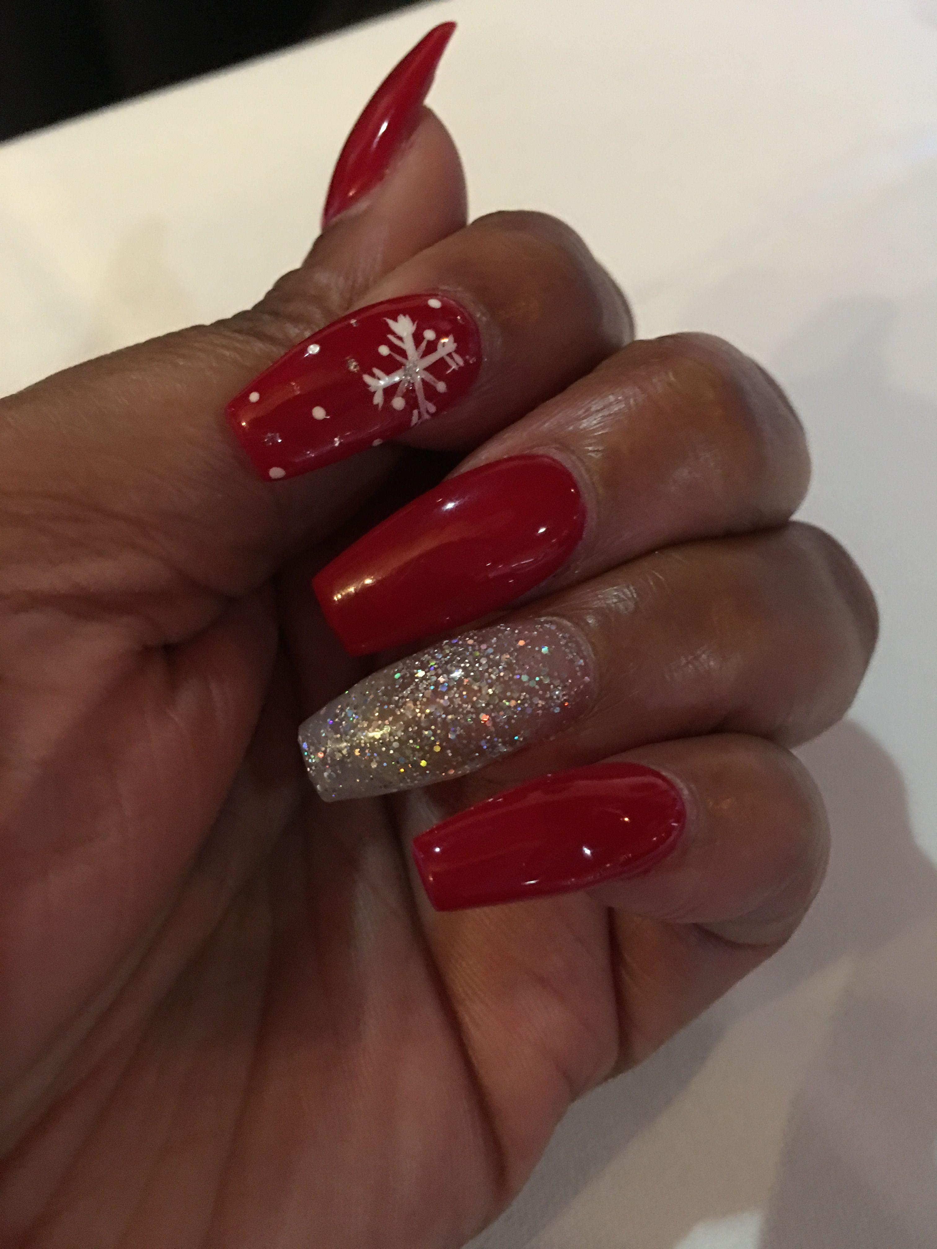 Christmas Nails Nail Designs La Fingernail And Toes Journal