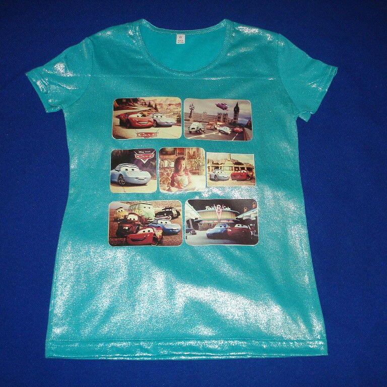 Blusa para niña personalizada en tela escarchada