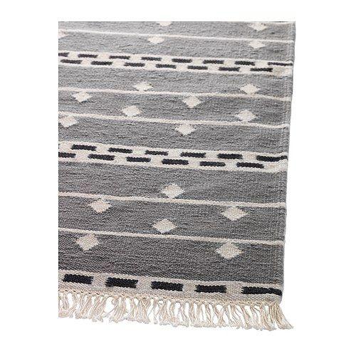 alvine rand teppich flach gewebt ikea handgewebt jeder teppich ist ein unikat wollsiegel. Black Bedroom Furniture Sets. Home Design Ideas