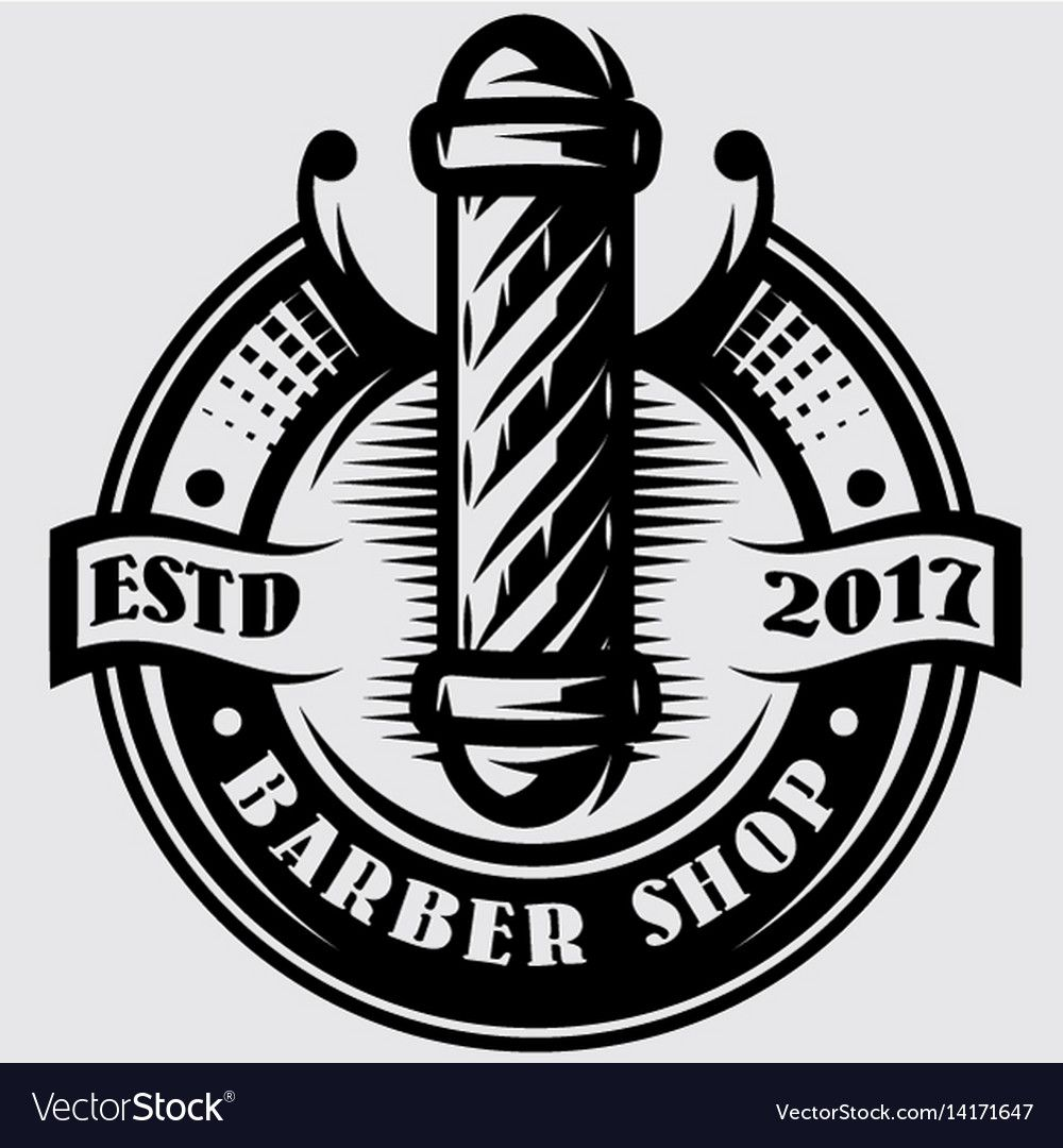 Monochrome Templates For Barber Pole On The Topic Of