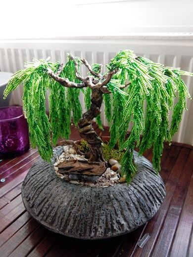 Arbre bonsaï saule pleureur en perle n°5 diy | Bonsaï | Pinterest ...