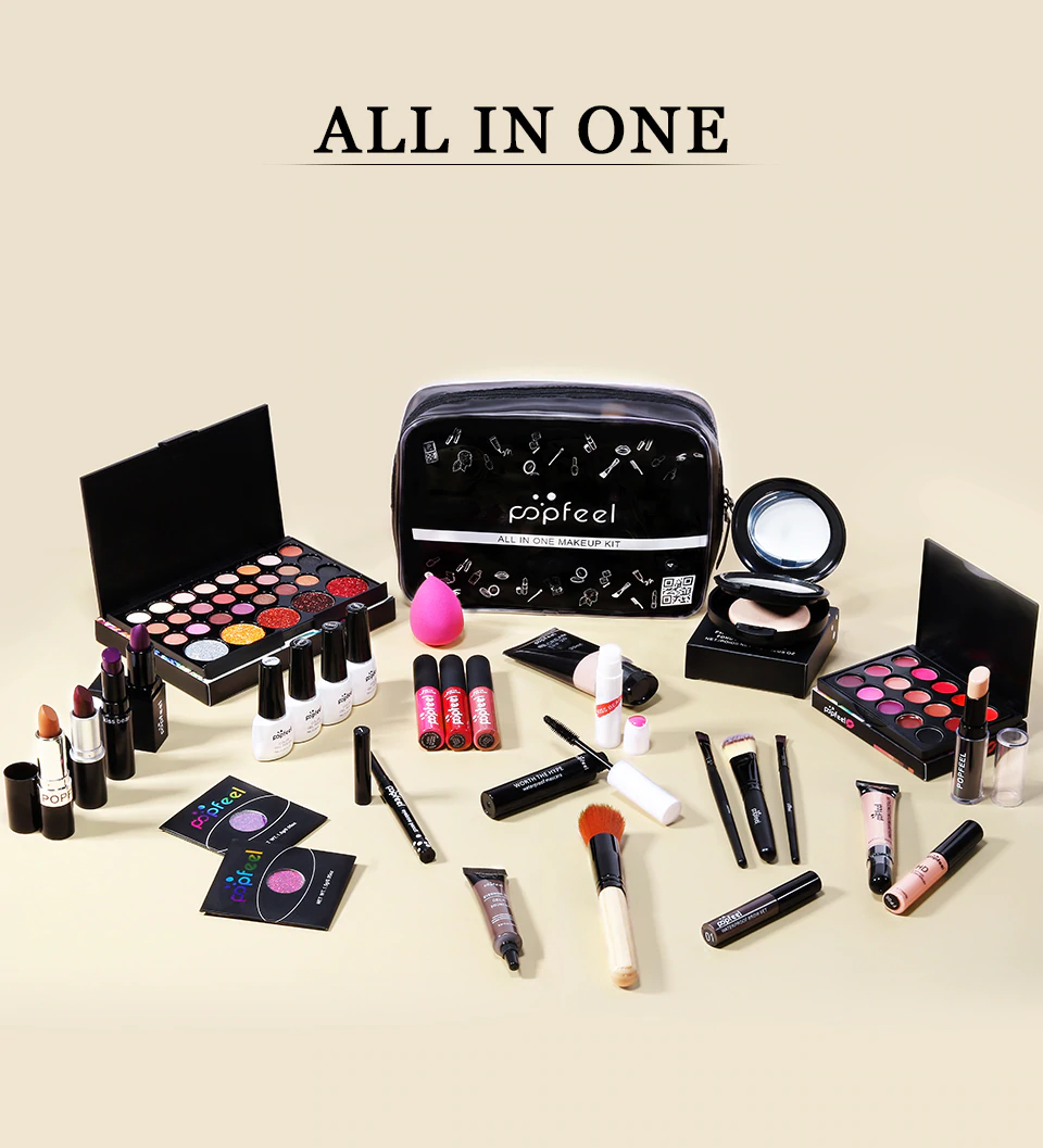 30Piece Professional Makeup Set With Bag Queerks™ in