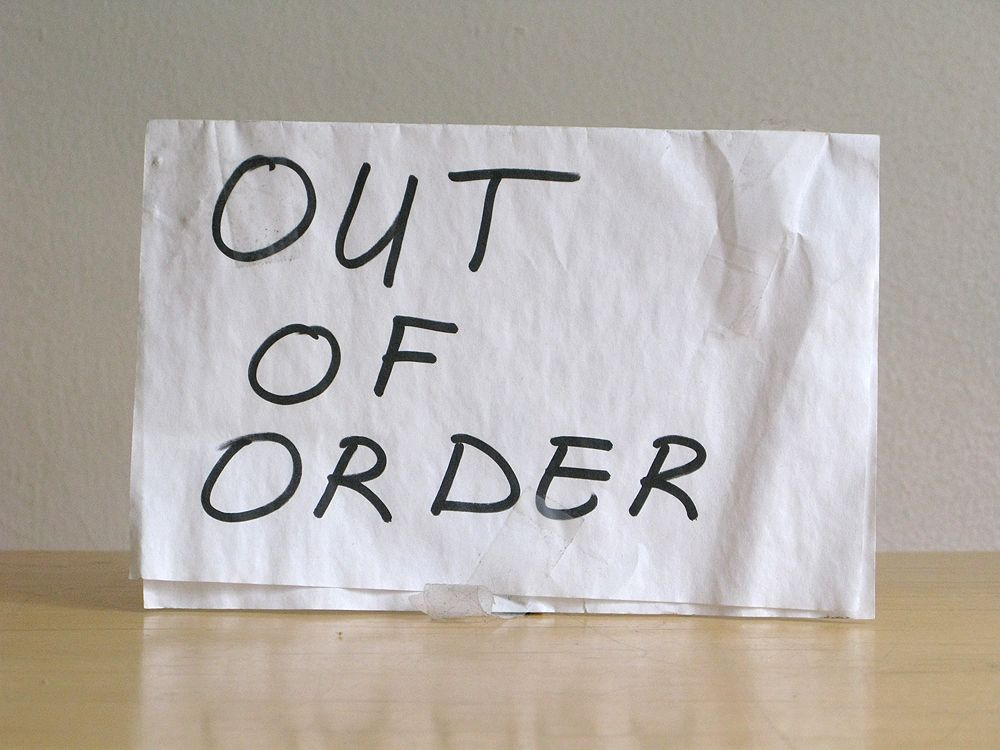 Out of Order Sign You\u0027re Out of Order! Pinterest