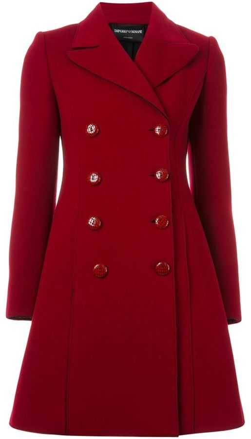 69d726f31952 Emporio Armani double breasted flared coat WAS  3