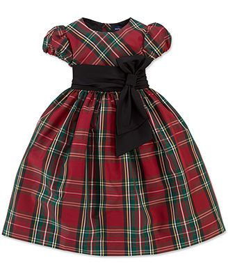 Christmas dress -----Ralph Lauren Girls Dress, Little Girls Short-Sleeve Tartan Party Dress