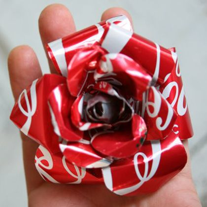 Recycled Aluminum cans To Flower