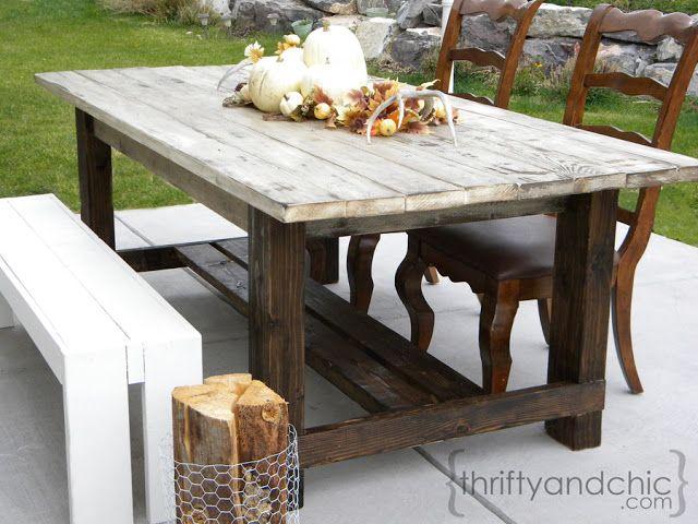 diy outdoor farmhouse table. DIY Outdoor Farmhouse Table Diy Pinterest