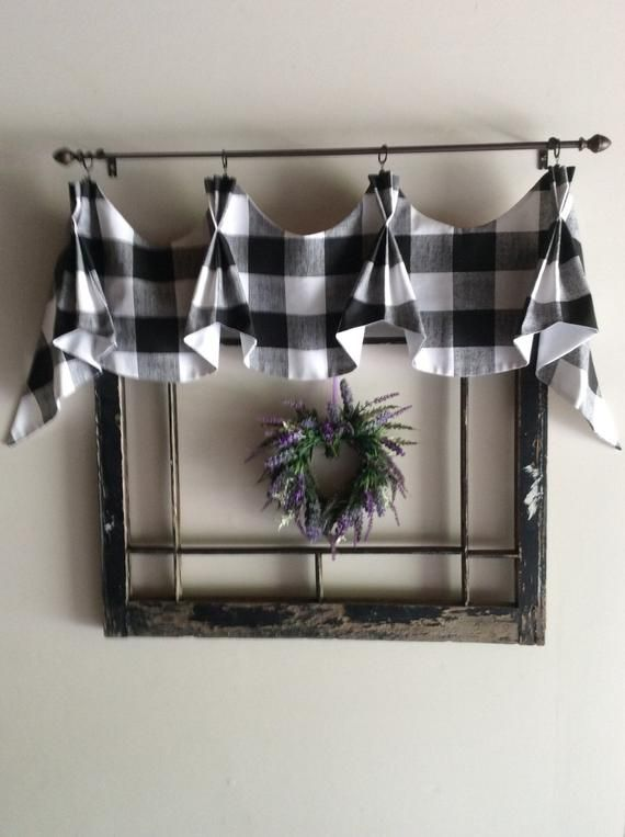 Buffalo Checked Farmhouse Valance Etsy Farmhouse Valances Farmhouse Kitchen Decor Decor