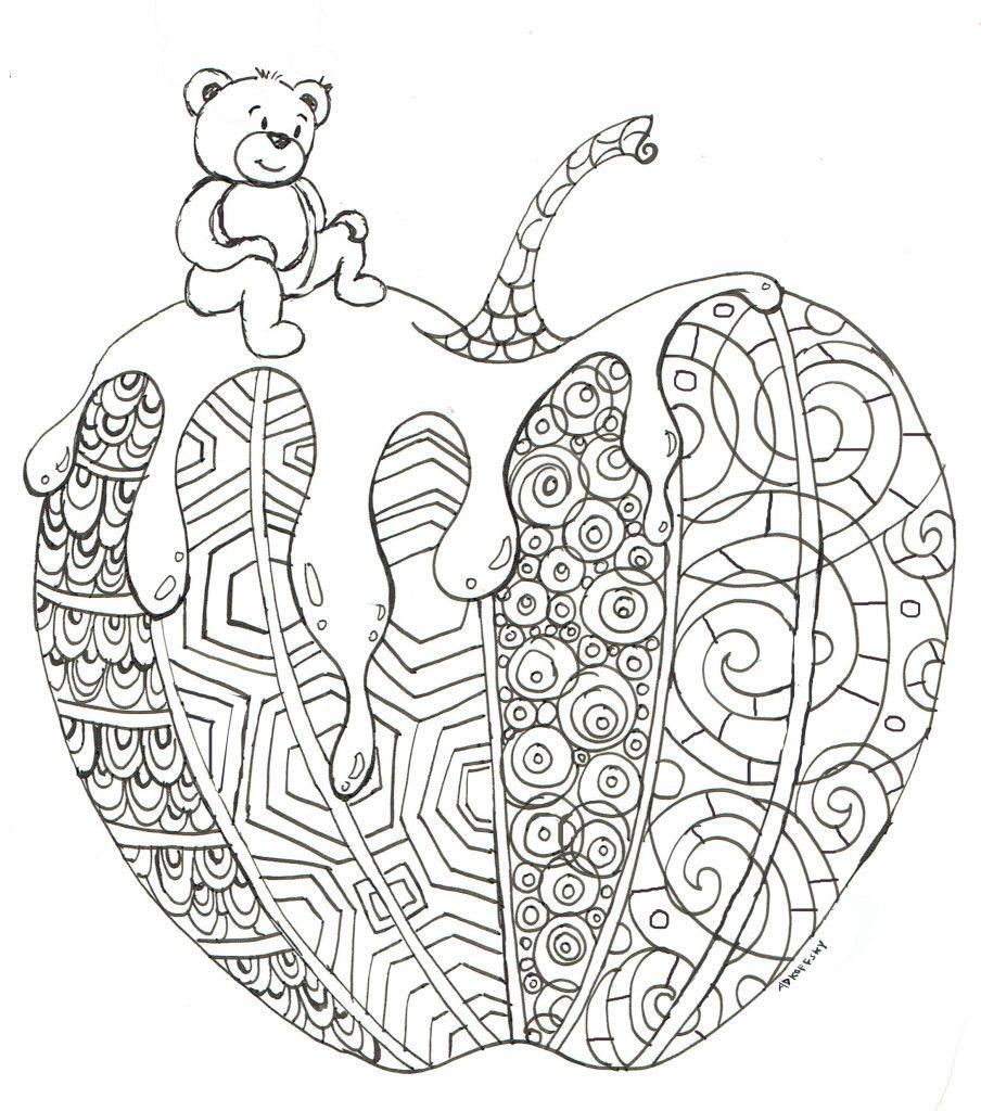 Applebear Apple Coloring Pages Rosh Hashanah Crafts Rosh Hashana Crafts