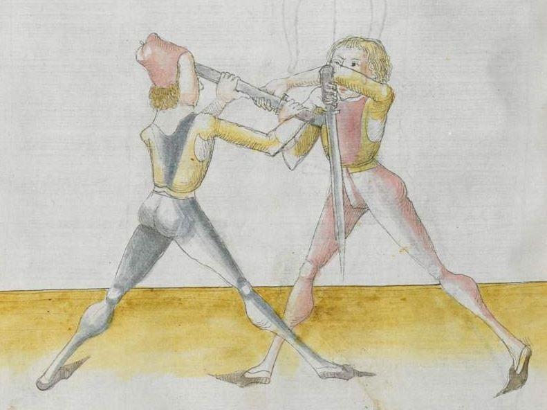 Lecküchner, Hans: Kunst des Messerfechtens Nordbayern, 1482 Cgm 582 Folio 284