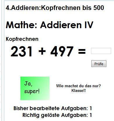 Mathe online üben