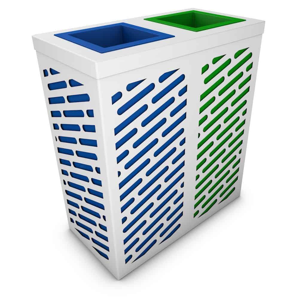 Neptune Poubelle De Recyclage Double 2 Compartiments Tri Selectif