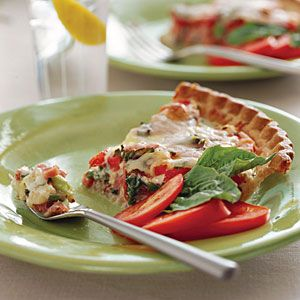 24 Ways with Fresh Tomatoes | Ham-and-Tomato Pie | SouthernLiving.com