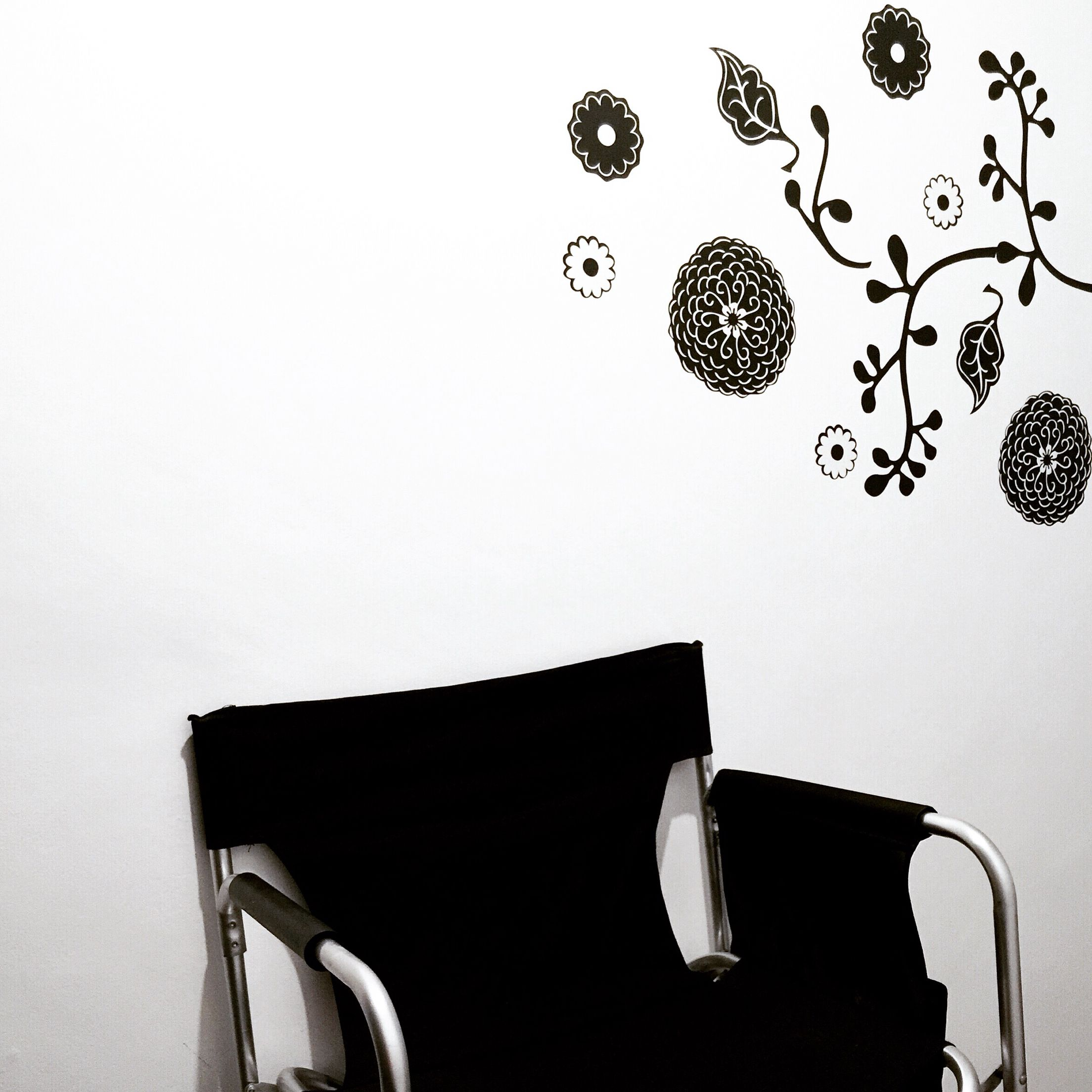Director's chair and wall decals