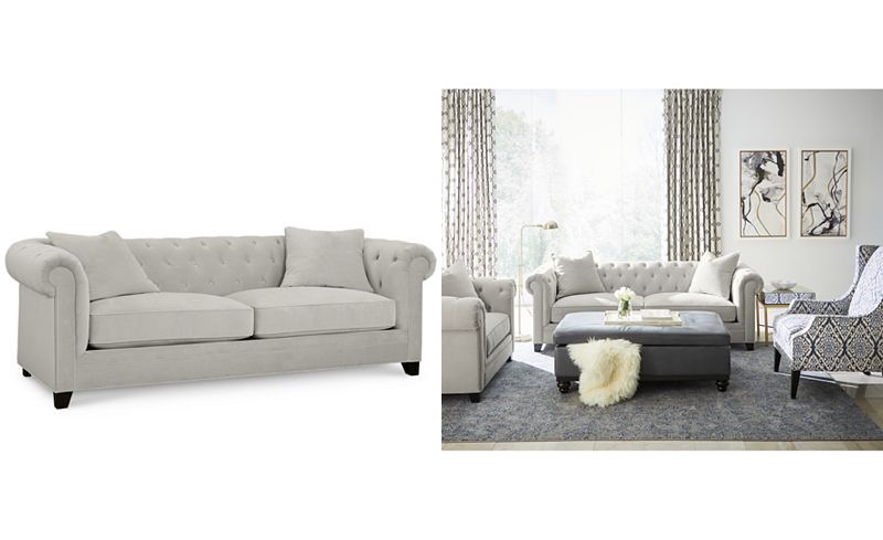 Martha Stewart Collection Saybridge 92 Fabric Sofa Created For