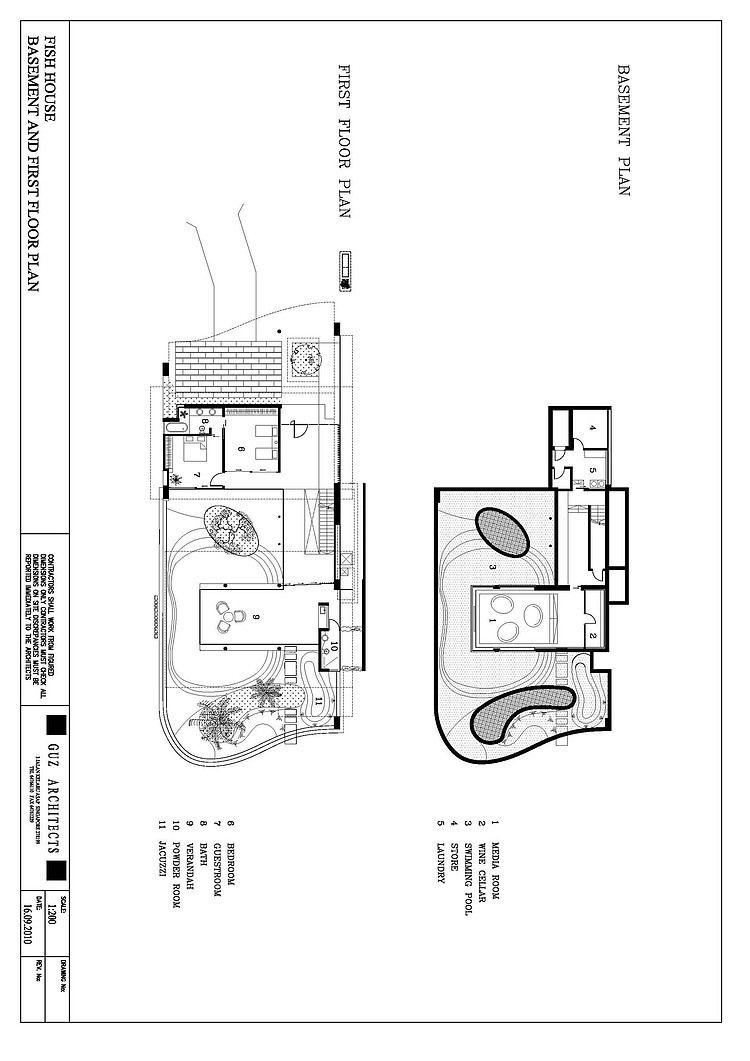 Fish House By Guz Architects Homeadore Fish House Basement House Plans Bungalow Floor Plans