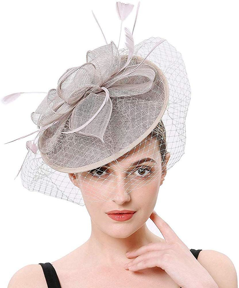 Fascinators for Women Wedding Veil Hats Tea Party Fascinator Headband Kentucky Derby Headwear Cocktail Feathers