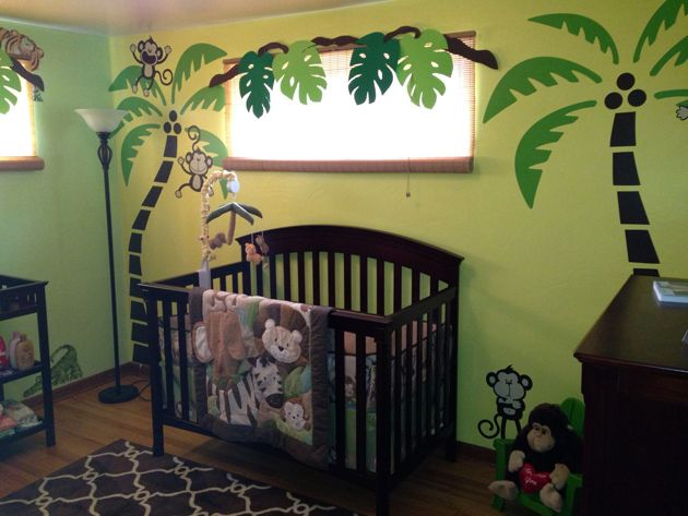 Jungle Baby Nursery Design Ideas Decorative Bedroom