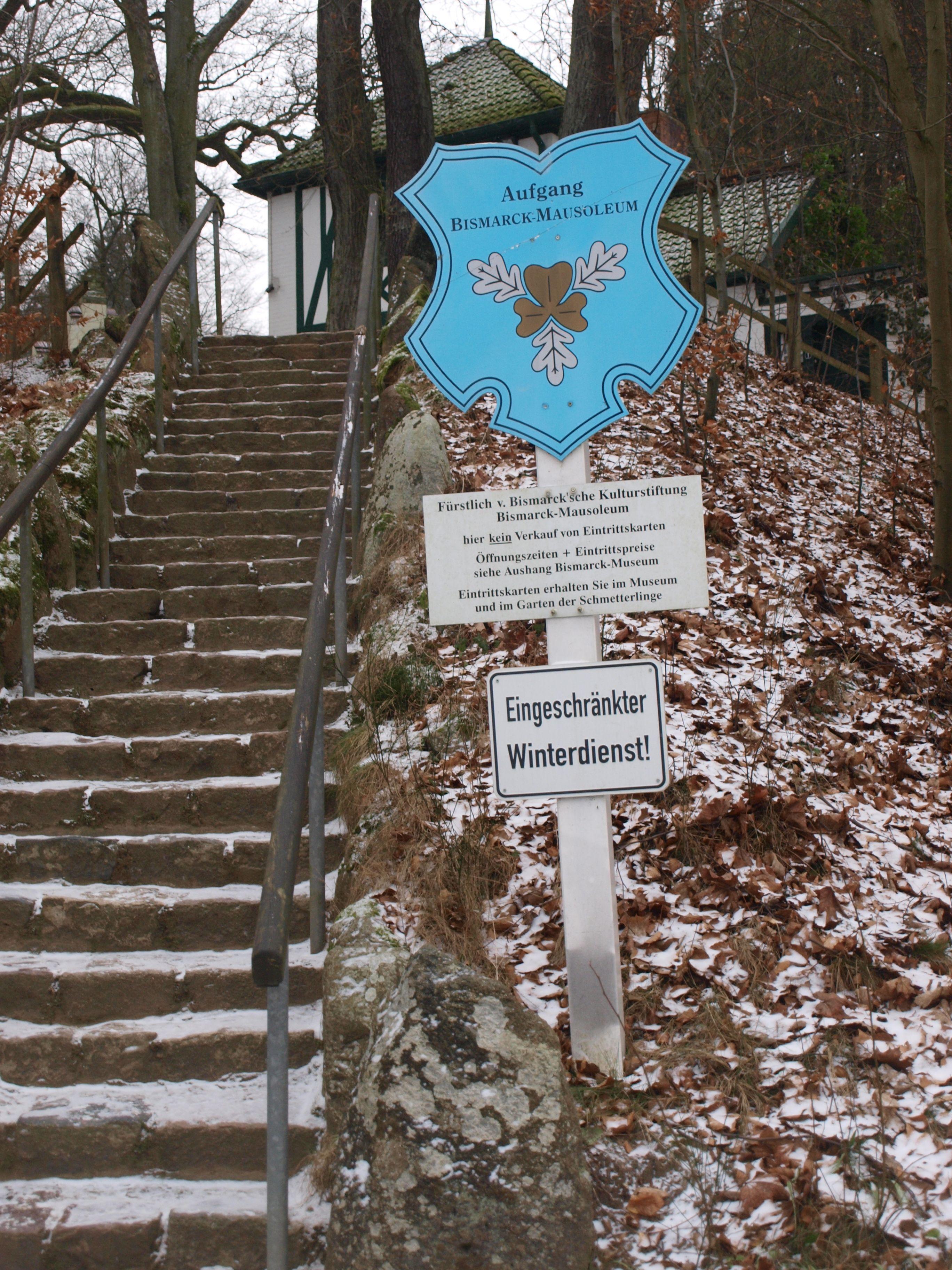 Friedrichsruh Aufgang Zum Bismarck Mausoleum Bismarck Bilder Winter