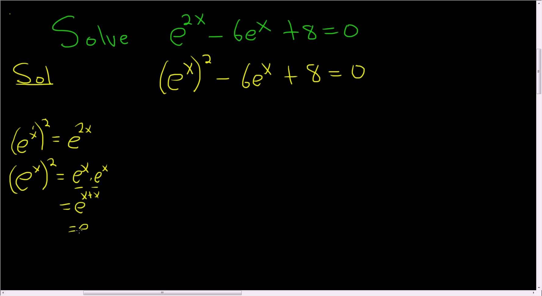 Solving The Exponential Equation E 2x