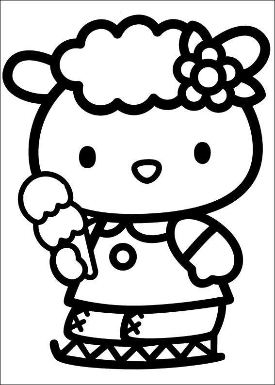 Hello Kitty (с изображениями) | Книжка-раскраска, Hello ...