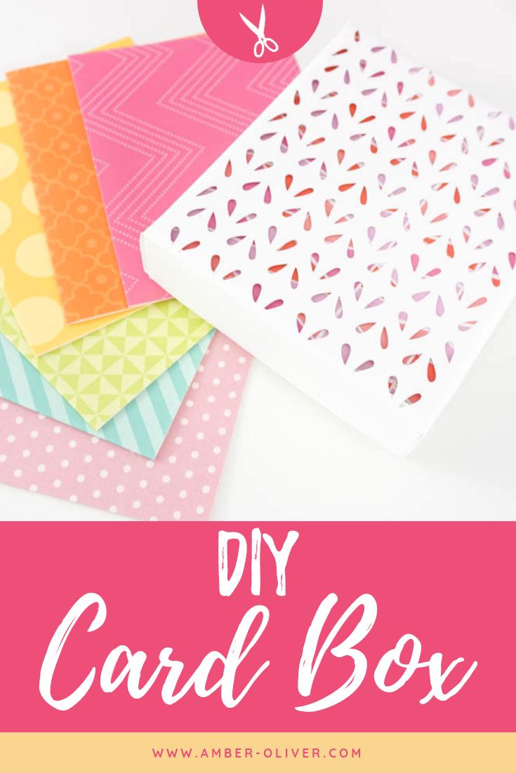 Diy Card Box Made With Cricut Simple Cards Handmade Diy Card Box Diy Cards