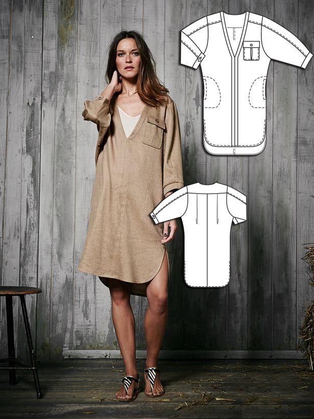 Safari Shirt Dress | Hobbies | Pinterest | Patterns, Sewing patterns ...