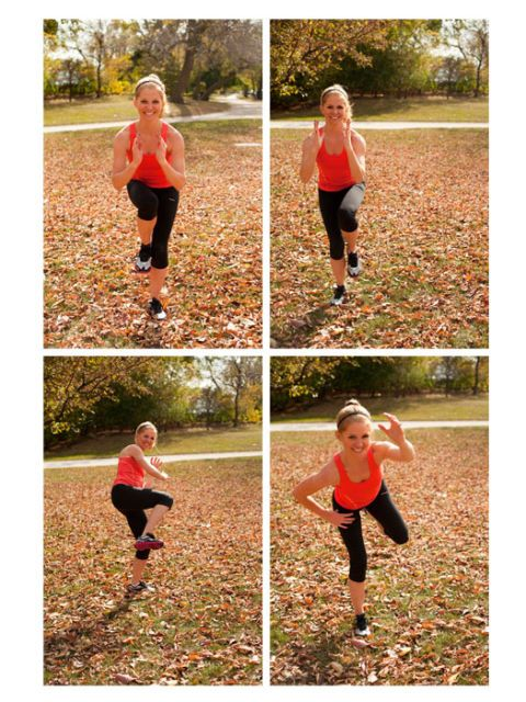 Fall Workouts - 7 Fun Fitness Moves to Beat Holiday Weight Gain. It's never too late to get in shape, especially when holiday season rolls around. Add these 7 moves into your daily workout routine to look gorgeous at your next holiday party. Checkout the workouts we're doing to stay in shape this fall at redbookmag.com.