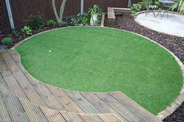 circular artificial lawn my garden design pinterest lawn