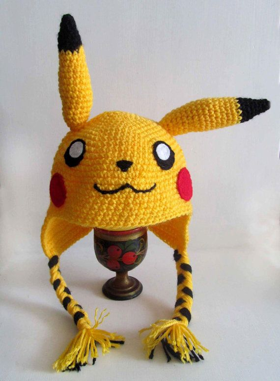 Super Cute Pikachu Inspired Knitted Hat Pokemon All by MarroCraft ...