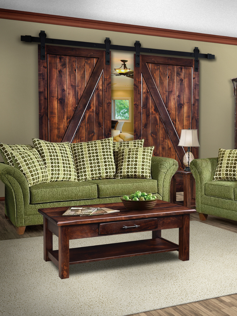 Contemporary mission style and eclectic solid wood living room furnishings american made by amish craftsmen handcrafted livingroom furniture