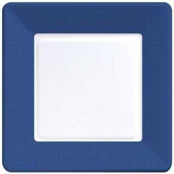 Amazon.com Navy Blue Square Paper Plates Coordinate Textured 7-inch 12 per  sc 1 st  Pinterest & Amazon.com: Navy Blue Square Paper Plates Coordinate Textured 7-inch ...