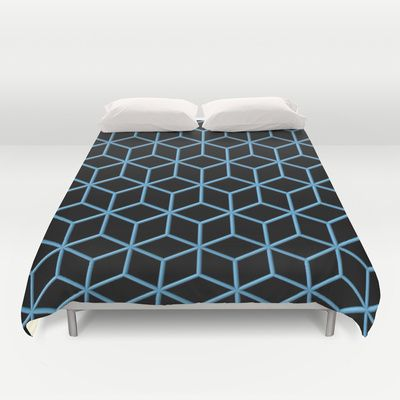 Cubes Duvet Cover by Lyle Hatch - $99.00 #duvetcover #society6 #comforter #decor #bedroom #pattern