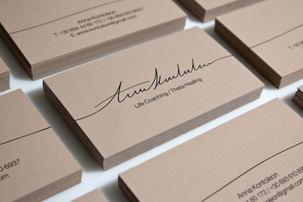 Custom Business Card Design - Anna Kontoleon | Creative / Innovative ...