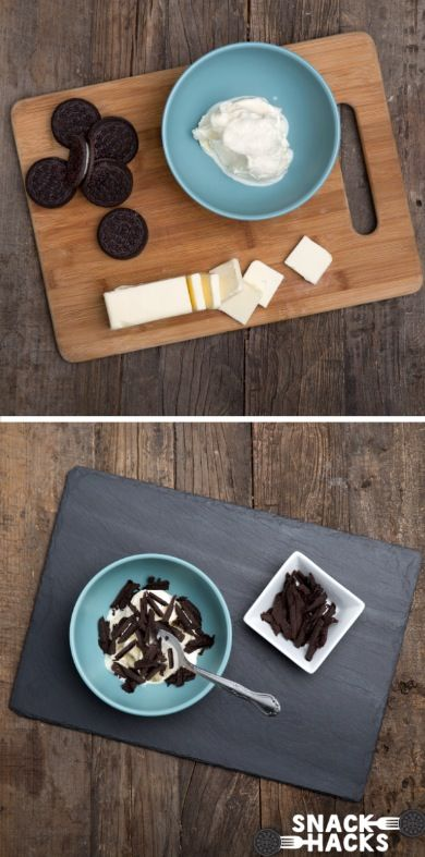 Wanna snack in style? Try giving your ice cream luxurious Oreo Curls. Courtesy of Ideas in Food