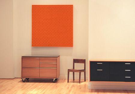 pannello a parete 068 - lana colore-laminato naturale feltro sul pannello di compensato sostenibile