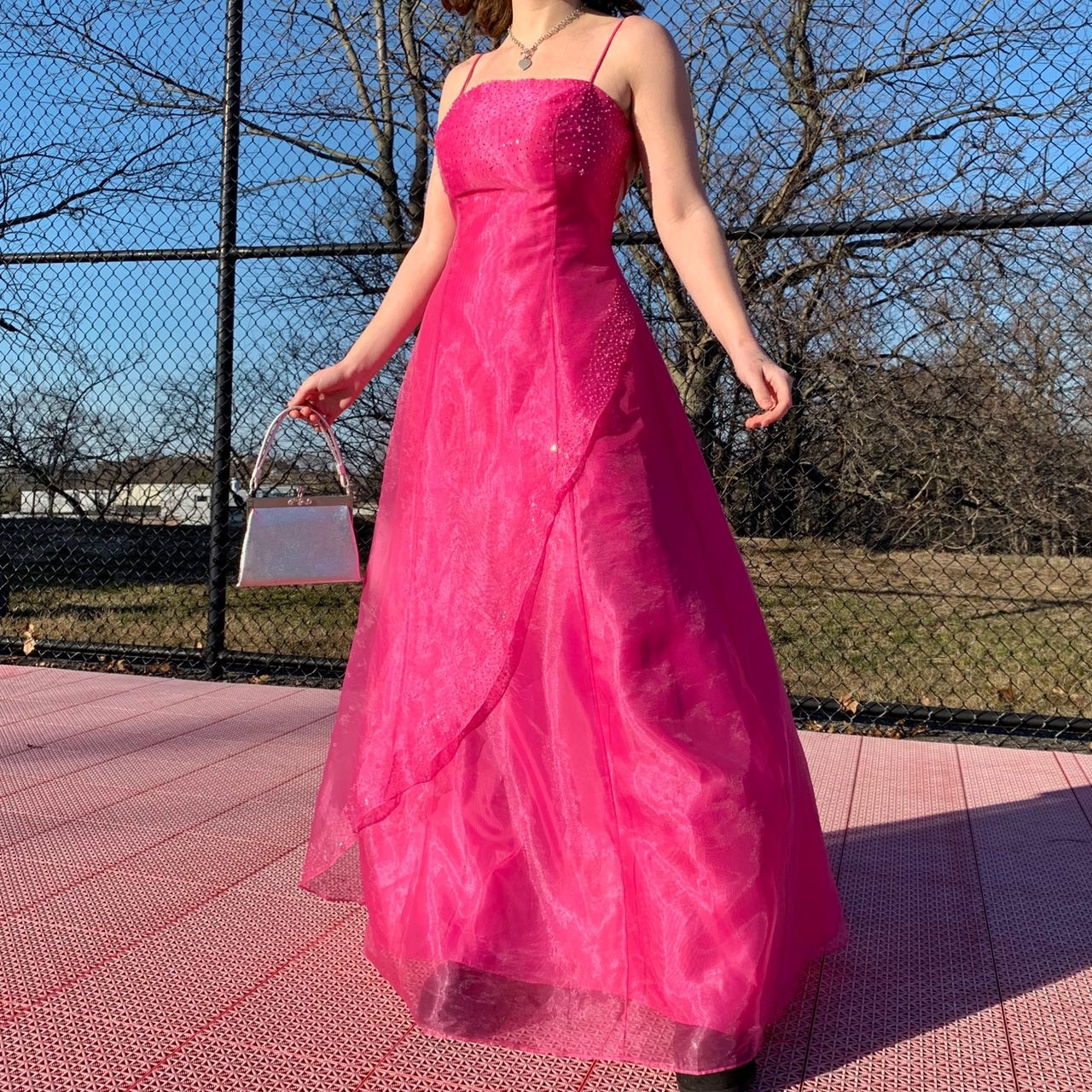 Pretty In Pink 1990s Prom Gown This Barbie Depop In 2021 Prom Gown Strapless Dress Formal Pretty In Pink [ 1280 x 1280 Pixel ]