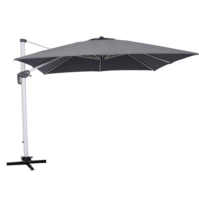 Allen + Roth Collection Name Charcoal Offset Patio Umbrella Base Included  (Common: 12