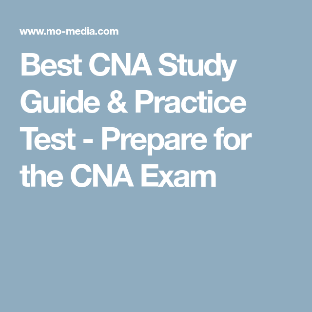 Best Cna Study Guide Practice Test Prepare For The Cna Exam