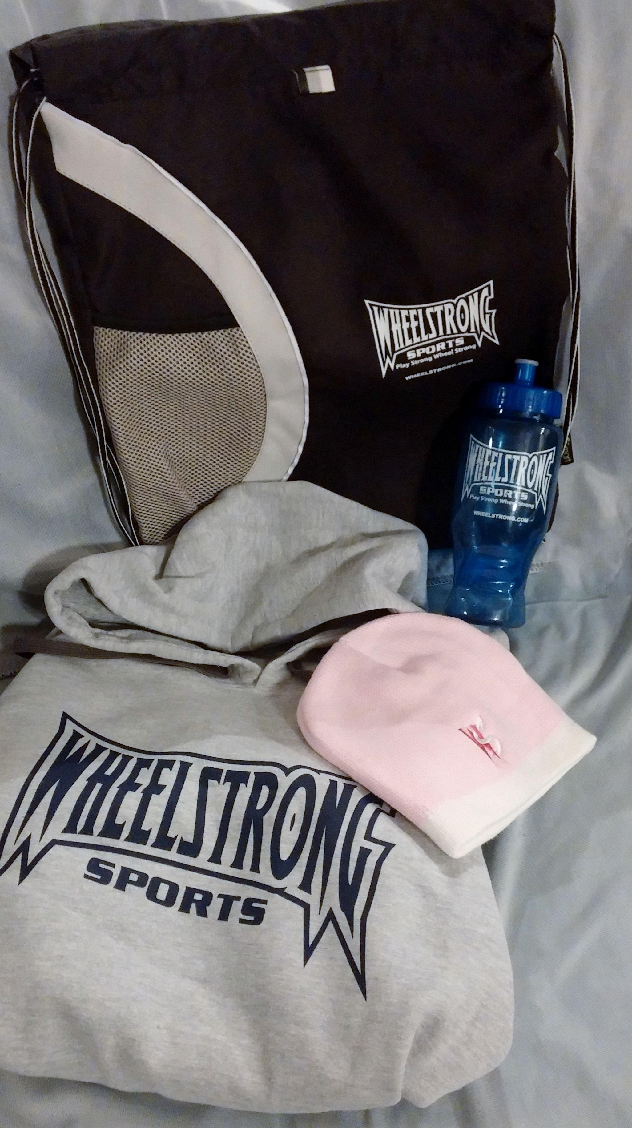 Black Sportsbag  Hoodie of choice Beanie of choice 24 oz. Water Bottle 5 Bracelets 2 Bumper Stickers  SAVING of $39.25!